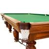 На фото Бильярдный стол для пула Виконт 9 футов камень 25мм сосна/ясень