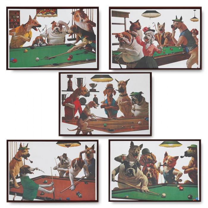 Комплект зеркальных панно Dogs