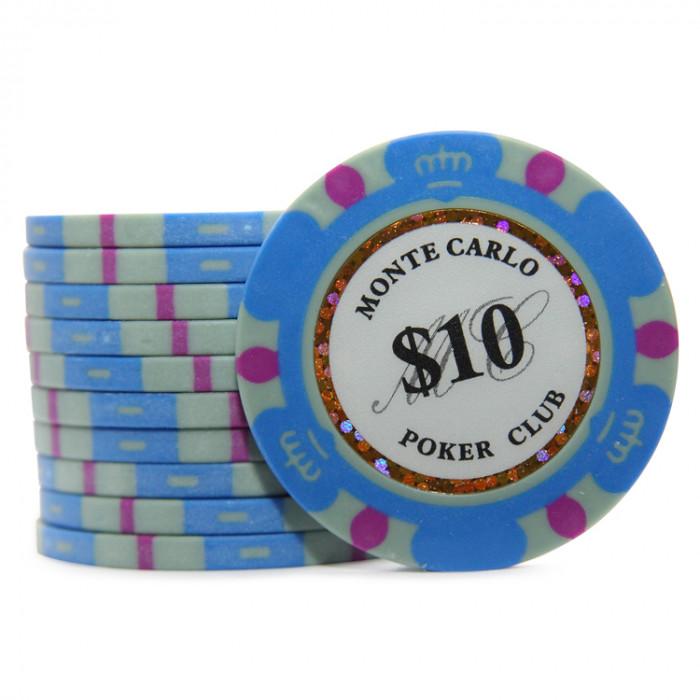 Фишки для покера Monte Carlo 10