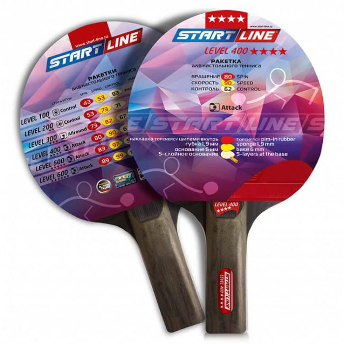 Ракетка для настольного тенниса Start Line Level 400-4* Прямая