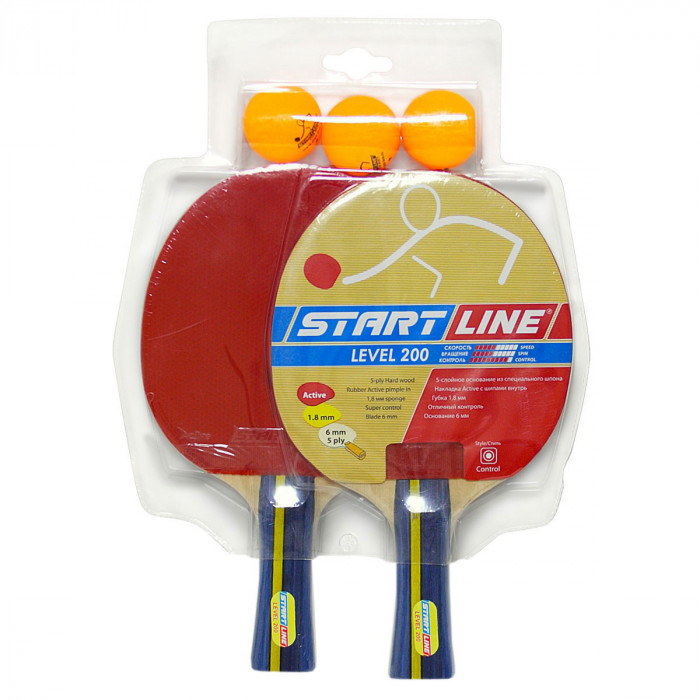 Набор для настольного тенниса Start Line Level 200 x 2