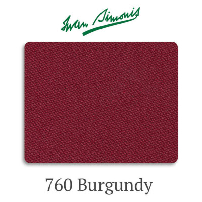 Сукно бильярдное Iwan Simonis 760 Burgundy