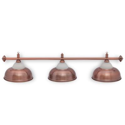 Светильник бильярдный Crown 3 плафона красная бронза