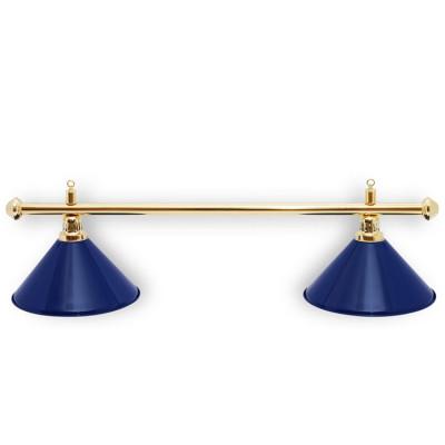 Светильник бильярдный PrestigeGolden 2 плафона синие плафоны