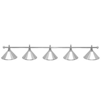 Светильник бильярдный PrestigeSilver 5 плафонов серебряные плафоны
