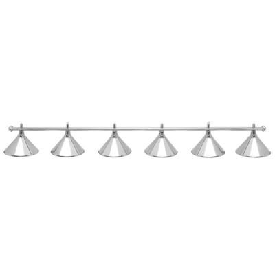 Светильник бильярдный PrestigeSilver 6 плафонов серебряные плафоны