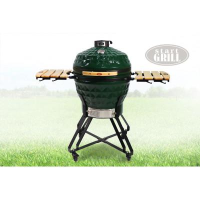 Гриль-барбекю керамический Start Pro SG24 Dark Green 61см