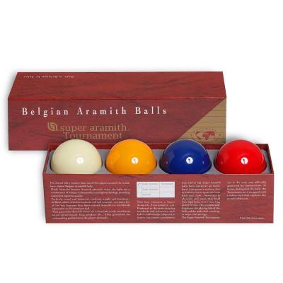 Шары бильярдные Aramith Super Tournament Carom для карамболя 61,5мм 4 шара