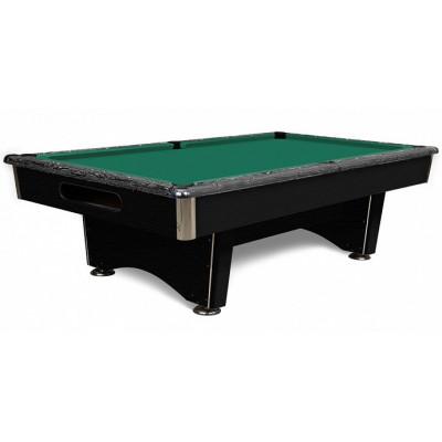 Бильярдный стол для русского бильярда Голливуд 9 футов камень 25мм текстура черная/черное дерево