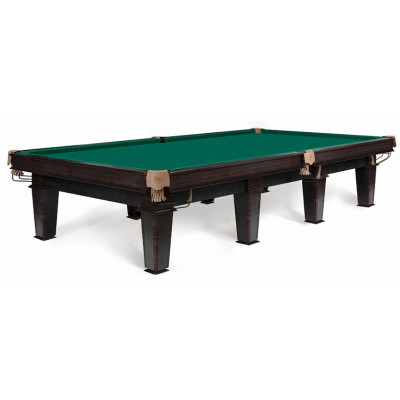 Бильярдный стол для русского бильярда Шервуд 10 футов камень 25мм венге/палисандр