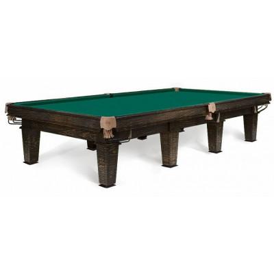 Бильярдный стол для русского бильярда Шервуд 9 футов камень 25мм венге/малина
