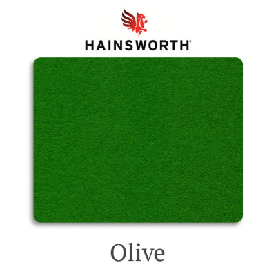 Сукно бильярдное Hainsworth SmartSnooker Olive 460 г/м2 95% шерсть 5% нейлон
