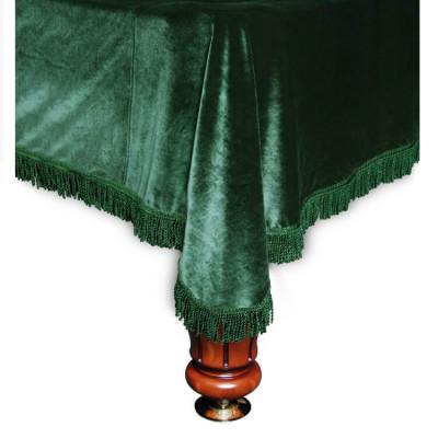 Покрывало для бильярдных столов Milano 12 футов зеленая бахрома