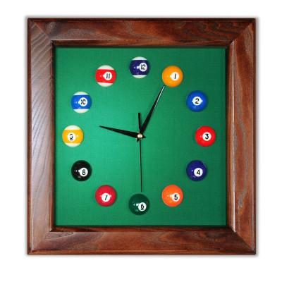 Часы бильярдные FS-4 Green ясень сукно