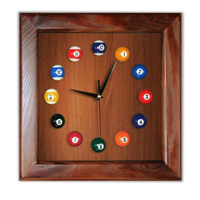 Часы бильярдные FS-4 Woody ясень шпон