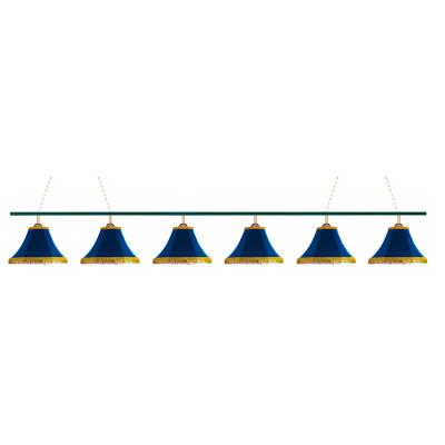 Светильник бильярдный Классика 6 синих плафонов металлическая штанга