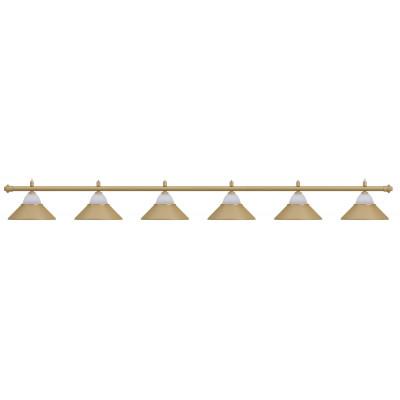 Светильник бильярдный Jazz 6 плафонов бронзовый