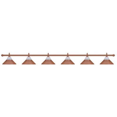 Светильник бильярдный Jazz 6 плафонов красная бронза