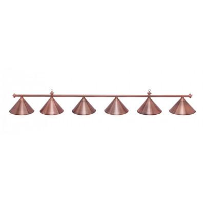 Светильник бильярдный Marseille 6 плафонов красная бронза