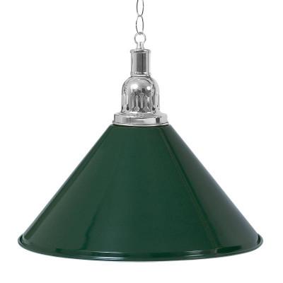 Светильник для бильярда Prestige Silver 1 плафон зеленый плафон