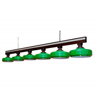 Светильник бильярдный Бронкс 6 плафонов штанга дуб