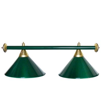 Светильник бильярдный StarGreenGRN 2 плафона зеленая штанга
