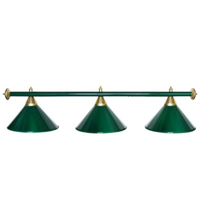 Светильник бильярдный StarGreenGRN 3 плафона зеленая штанга