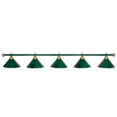 Светильник бильярдный StarGreenGRN 5 плафонов зеленая штанга