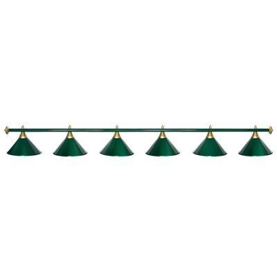 Светильник бильярдный StarGreenGRN 6 плафонов зеленая штанга