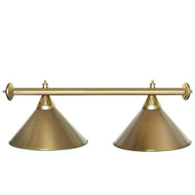 Светильник бильярдный StarGolden 2 плафона золотая штанга