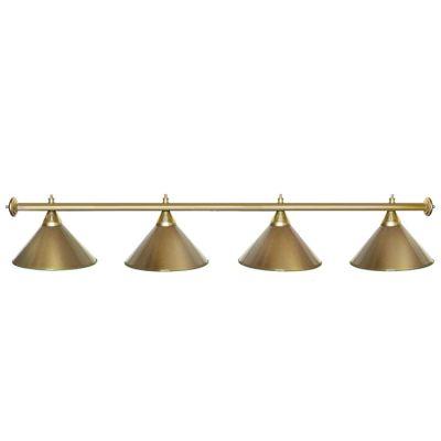 Светильник бильярдный StarGolden 4 плафона золотая штанга