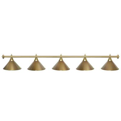 Светильник бильярдный StarGolden 5 плафонов золотой