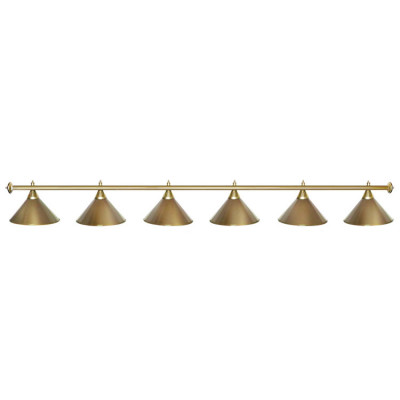 Светильник бильярдный StarGolden 6 плафонов золотая штанга
