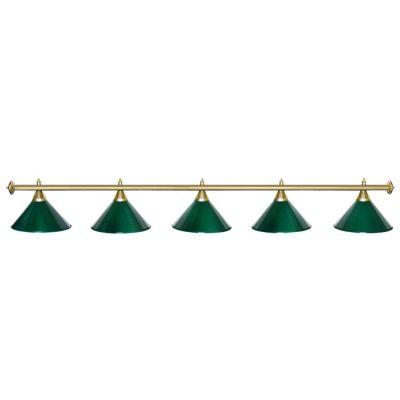 Светильник бильярдный StarGreenGLD 5 плафонов золотая штанга