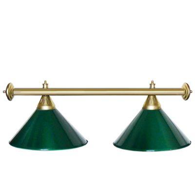 Светильник бильярдный StarGreenGLD 2 плафона золотая штанга