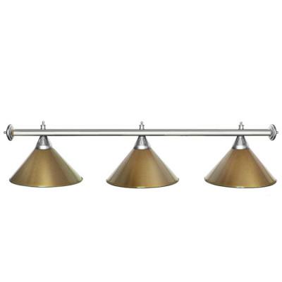 Светильник бильярдный StarGolden 3 плафона серебряная штанга