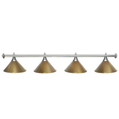 Светильник бильярдный StarGolden 4 плафона серебряная штанга