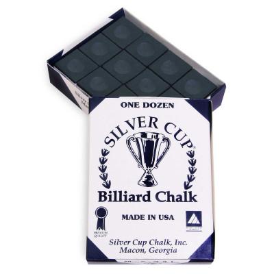 Мел бильярдный Silver Cup Black 12шт