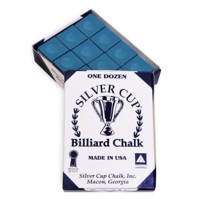 Мел бильярдный Silver Cup Blue 12шт