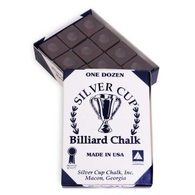 Мел бильярдный Silver Cup Brown 12шт