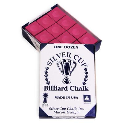 Мел бильярдный Silver Cup Burgundy 12шт