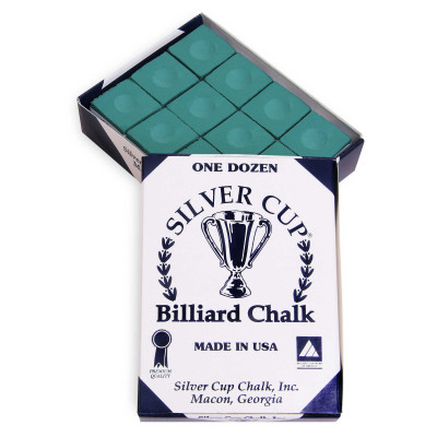 Мел бильярдный Silver Cup Green 12шт