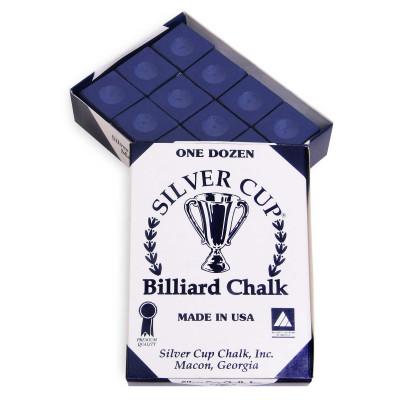 Мел бильярдный Silver Cup Navy 12шт