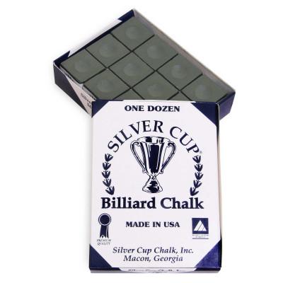 Мел бильярдный Silver Cup Olive 12шт