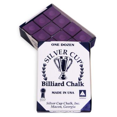 Мел бильярдный Silver Cup Purple 12шт