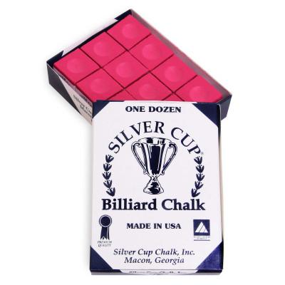 Мел бильярдный Silver Cup Red 12шт