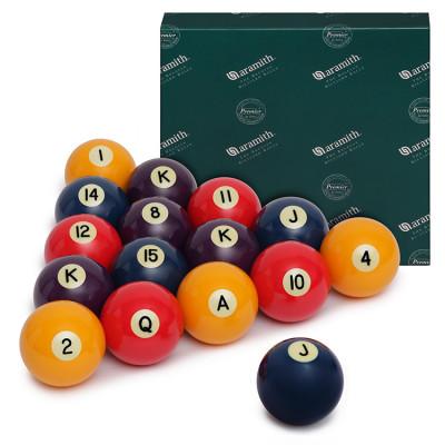 Шары бильярдные Aramith Poker для пула 57,2мм