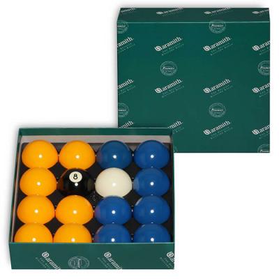 Шары бильярдные Aramith Casino Blue&Yellow 8-Ball для пула 57,2мм