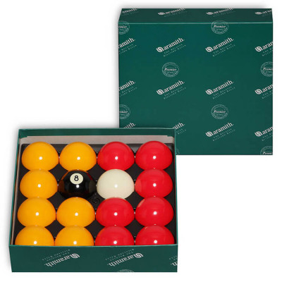 Шары бильярдные Aramith Casino Red&Yellow 8-Ball для пула 57,2мм