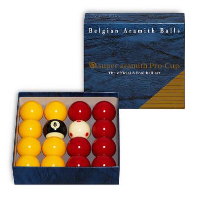 Шары бильярдные Aramith Pro-Cup 8-Ball для пула 50,8мм